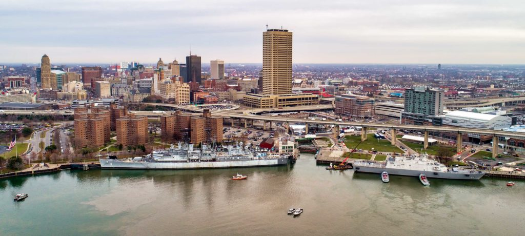 Little Rock LCS-9 Buffalo Erie County Naval Park Aerial Photography